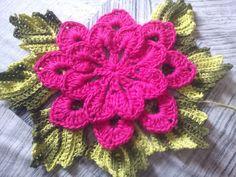 Ponto Com Artesanatos: Passo a Passo - Flor Dupla de Crochê