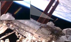The 'golden cigar' UFO spotted near the International Space Station