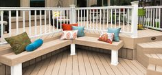 Love the mixing of composite material colors.  Made with ReliaBoard, this deck is one-of-a-kind.