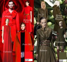Crimson And Olive Pre-Fall 2014 Trend Council #DORLYDESIGNS: Pre-Fall 2014: Runway Designer Fashion Colour Trends Report