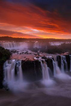 Iguazu Falls, Brazil, by porbital, on DeviantArt.
