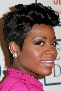 Fantasia Hairstyles fantasia barrino layered razor cut fantasia barrino razor cuts and fantasia Fantasia Short Haircuts Fantasia Short Curls