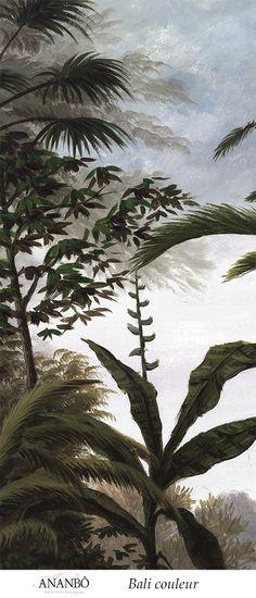 Echantillon paysage coloré - Echantillon Bali couleur 45x100cm