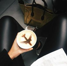 coffee, travel, and airplane Bild