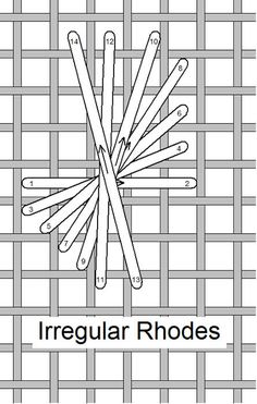 I ❤ embroidery . . . Irregular Rhodes A, Stitch of the Month May 2012 ~By Needlelace