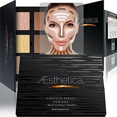 Aesthetica Cosmetics Contour and Highlighting Powder Foundation Palette / Contouring Makeup Kit