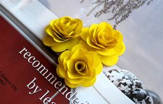 Wood Birch Flower  Yellow by itsallaboutflower76 on Etsy, $34.00