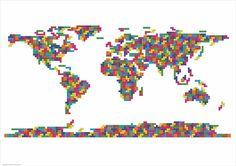 The world in Tetris.