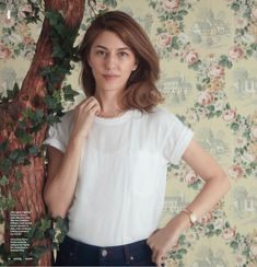 Calder Blake Jaq Tee in white on Sofia Coppola for W Magazine June/ July 2017 issue -https://calderblake.com/products/jaq-boyfriend-tee