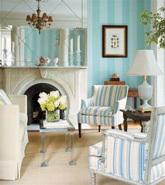 Image Detail for - Luxury and Elegant French Country Interior Design Ideas with blue line ...