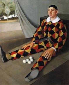 Antonio Donghi juggler-1926