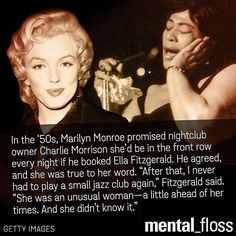 Marilyn Monroe fought for Ella Fitzgerald, and few knew it.