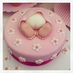 Baby girls shower cake #cake #fondant