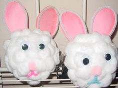 Preschool Crafts for Kids*: Easter Bunny Cotton Ball Craft