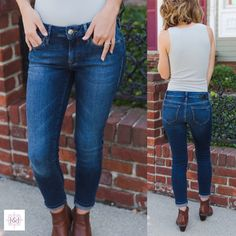 """Jeans shouldn't just """"kinda"""" fit us petite girls, they should TOTALLY fit & you should LOVE them. & you're going to LOVE our Adrianna jeans✨"""