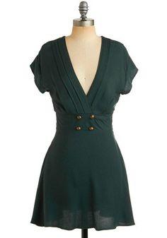 Four Square Dress in Forest | Mod Retro Vintage Dresses | ModCloth.com