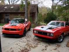 Double Trouble With The 2012 Mustang Boss 302 And The 1973 Mustang Mach 1 2012 Mustang, Mustang Boss 302, Mustang Mach 1, Ford Mustang, Pony Car, Double Trouble, Mustangs, Cars Motorcycles, Muscle Cars