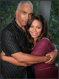 (Father daughter) Sanaa Lathan her Dad