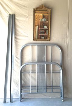 vintage metal twin bed frame by silosprings on etsy
