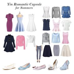 Yin Romantic Capsule for Summers by winter-belle on Polyvore
