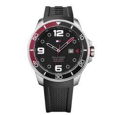 Relógio Tommy Hilfiger Masculino Borracha Preta - 1791153