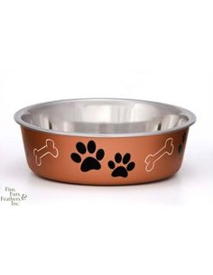 Loving Pets Standard Stainless Dish Dog Bowl 3-quart To Make One Feel At Ease And Energetic Dishes, Feeders & Fountains