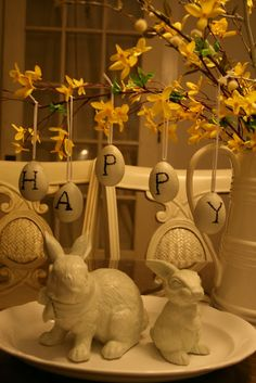 Pottery Barn inspired Easter - DIY
