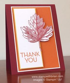 Vintage Leaves, One Big Meaning, Stampin' Up!, Brian King