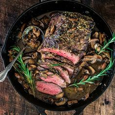 Rosemary and Garlic Roast Beef - A fragrant and elegant dish for the holidays or your next dinner party!