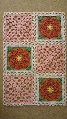 200가지 꽃 모티브 이불만들기 참고 : 네이버 블로그 Crochet Squares, Crochet Granny, Crochet Motif, Crochet Doilies, Knit Crochet, Crochet Patterns, Love Crochet, Crochet Accessories, Crochet Projects