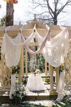 Gazebo draping for wedding ceremony