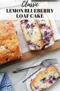 Classic Lemon Blueberry Loaf Cake A classic family favourite recipe! This delicious Blueberry Lemon Loaf Cake is sweet, tart, wonderfully moist and fluffy, and so easy to make! Loaf Recipes, Baking Recipes, Cake Recipes, Dessert Recipes, Kitchen Recipes, Easter Recipes, Drink Recipes, Dessert Bread, Cleaning Recipes