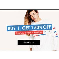 Buy One Get One 50% OFF on Hoodies, Sweats & Trackies @ Factorie - Bargain…