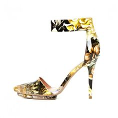 Jeffrey Campbell 'Solitaire', yellow, patent floral - Ashbury Skies