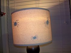 Spiders on the inside of the lampshade!  #Cricut