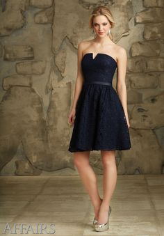 Lace Satin Belt. Zipper Back. Shown in Navy. Available in all Solid Lace Colors.