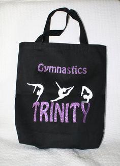 e18a697be7f1 Gymnastic Bag Personalized Gymnastic bag Gym tote by PearLilly Gymnastics  Bags