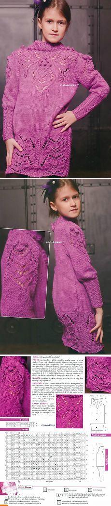 Вязание спицами - платья и туники - 10 моделей