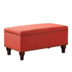 Shop the latest collection of HomePop Quality Elegant Stylish Coral Finish Filander Upholstered Storage Bench, H x W x D from the most popular stores - all in one place. Similar products are available. Leather Storage Bench, Storage Bench With Cushion, Entryway Bench Storage, Bench With Shoe Storage, Upholstered Storage Bench, Linen Storage, Fabric Storage, Storage Benches, Bedroom Storage