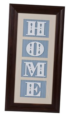 Cricut.com design by Miranda Urry - Home Frame, design cut using cricut machine.  Can vary material, etc. for wall art & gifts