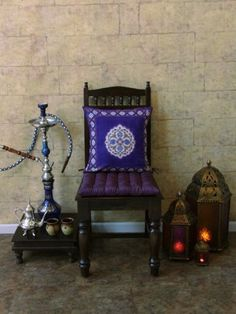 Sultans Palace ~ Purple Blue Moroccan Vintage Print Cushion Cover 17x17 by Saffron Marigold, http://www.amazon.com/dp/B004PN0R74/ref=cm_sw_r_pi_dp_hIlyrb0JNBYK5