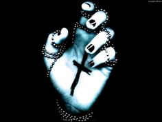 Dunkel Gothic  Dunkel Hand Cross Religion Christian Wallpaper