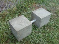 Concrete dumbbell - YouTube