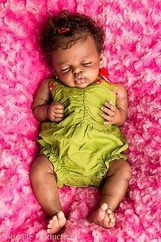 simulation baby doll, African American/biracial, girl