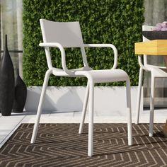 Kartell Generic A Stacking Patio Dining Chair | Perigold Outdoor Dining Chairs, Dining Chair Set, Patio Design, Home Decor Styles, Contemporary Design, Cushions, Philippe Starck, Evolution, Terrace