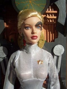 About seven of nine: jery ryan as seven of nine in her borg outcove