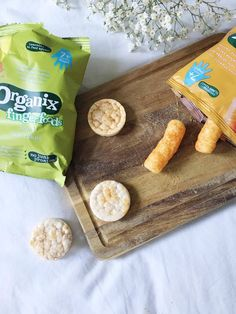 Organix Finger Foods: Apple Rice Cakes - www.adizzydaisy.com Baby Weaning, Rice Cakes, Finger Foods, Bread, Apple, Apple Fruit, Finger Food, Bakeries, Breads