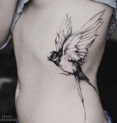 Swallow tattoo - 110 Lovely Bird Tattoo Designs  <3 <3