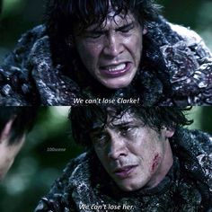 [3.02] I absolutely LOVE how much Bellamy wanted to get Clarke back I mean, he was stabbed in the leg, and still he kept going — Mia • • #thehundred #the100 #bellamyblake #bobmorley #bellarke #100scene3x02
