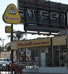 Winchell's Donuts in Denver - worked nights by myself making the donuts and waiting on the customers.  I quit once I started receiving obscene phone calls every night